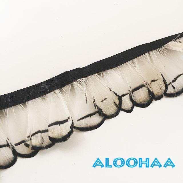 フェザー ロール キンケイ錦鶏 5-6cm丈 30cm タヒチアンダンス衣装パーツ 材料