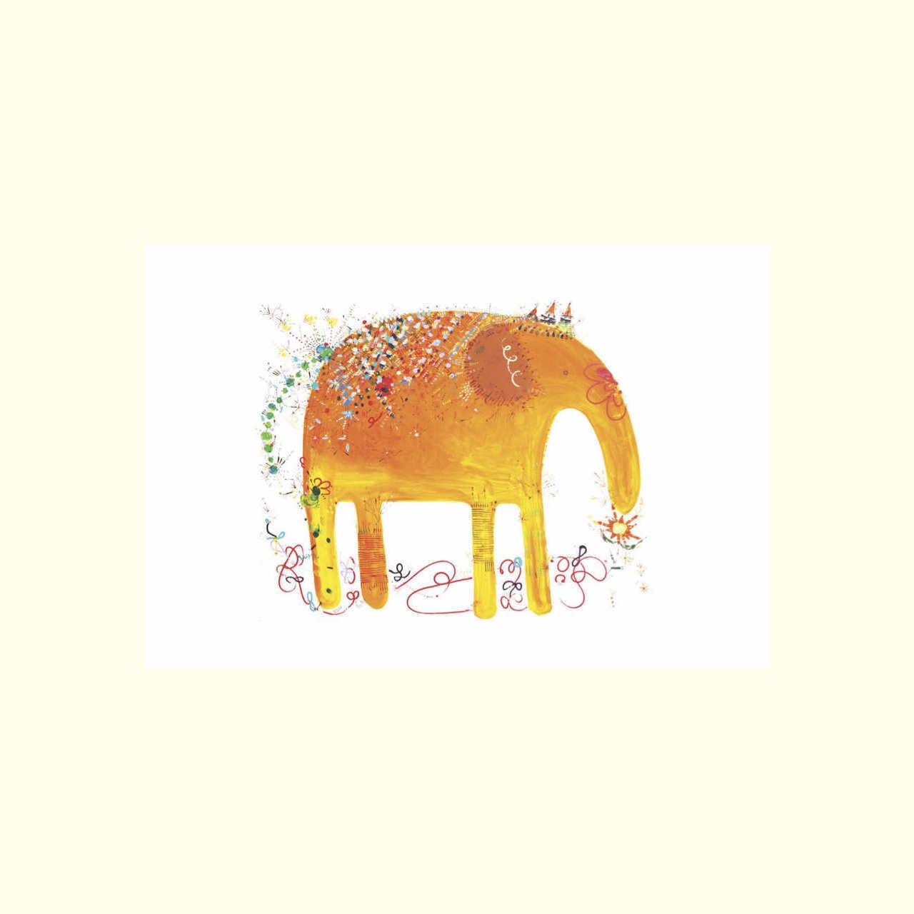ゾウさんポストカード