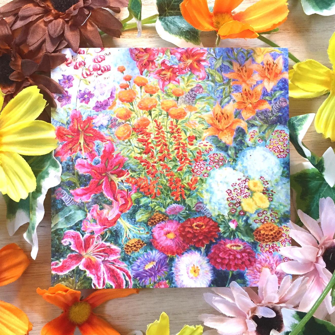 絵画 インテリア アートパネル 雑貨 壁掛け 置物 おしゃれ 油絵 水彩画 鉛筆画 花 自然 風景 ロココロ 画家 : Uliana ( ウリャーナ ) 作品 : u-15