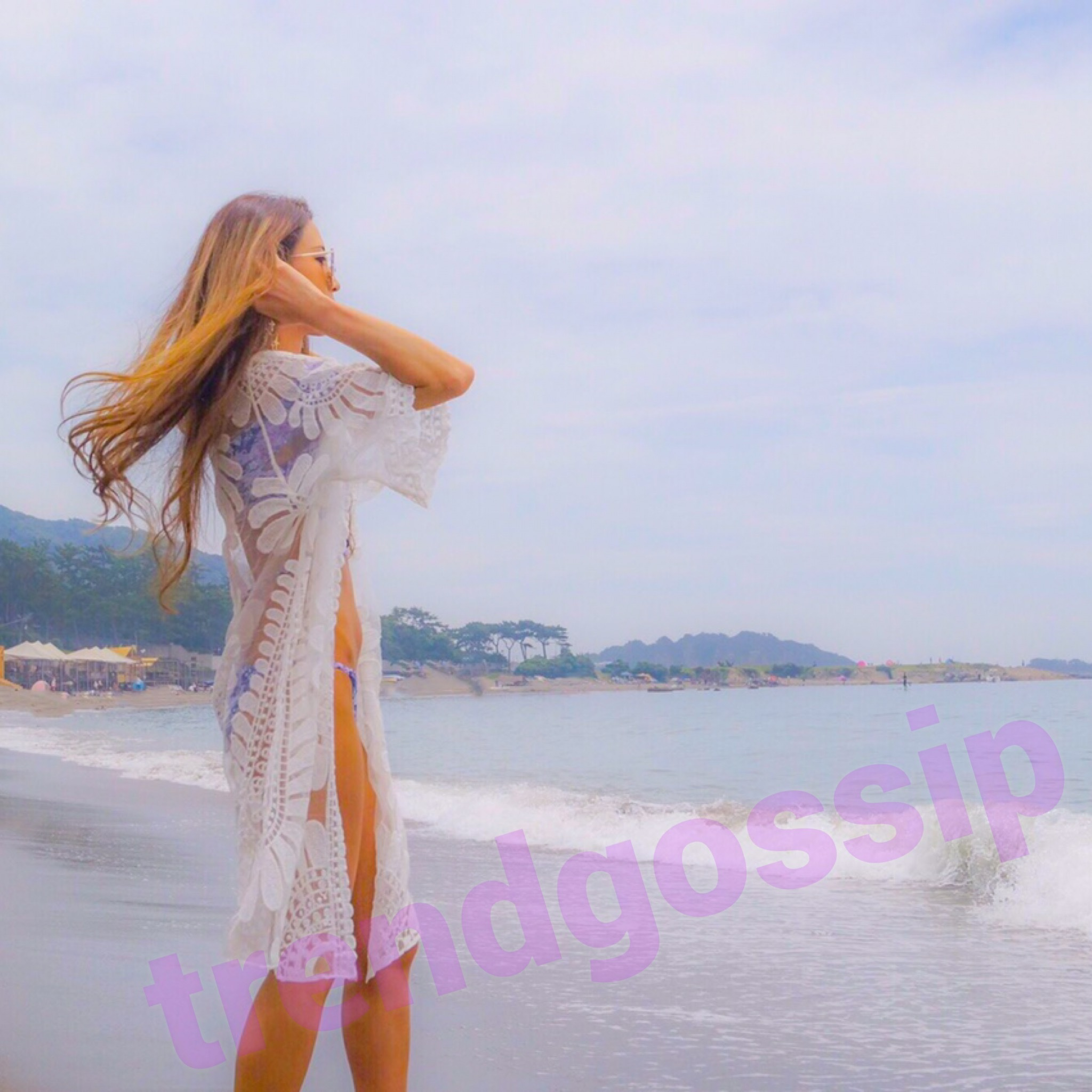 【即納】シースルーフラワービーチカバー/水着/ビキニ/beach