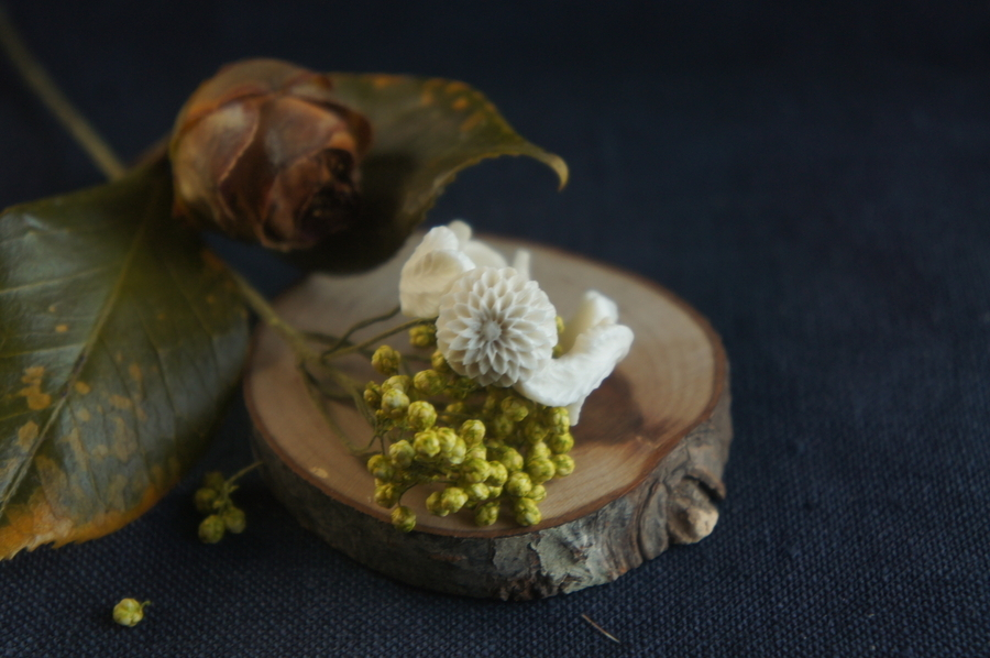 菊の花のシリーズ「薫」指輪