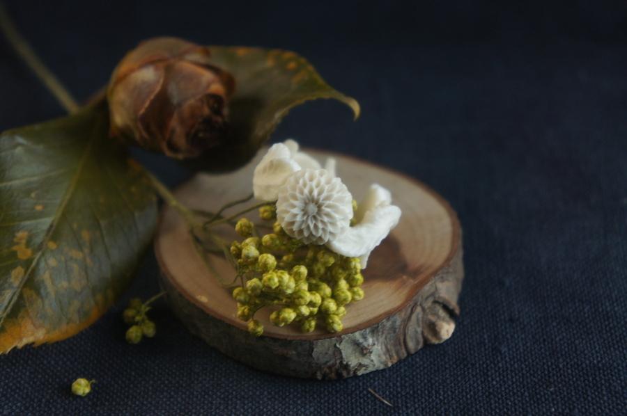 【C】菊の花のシリーズ「薫」指輪