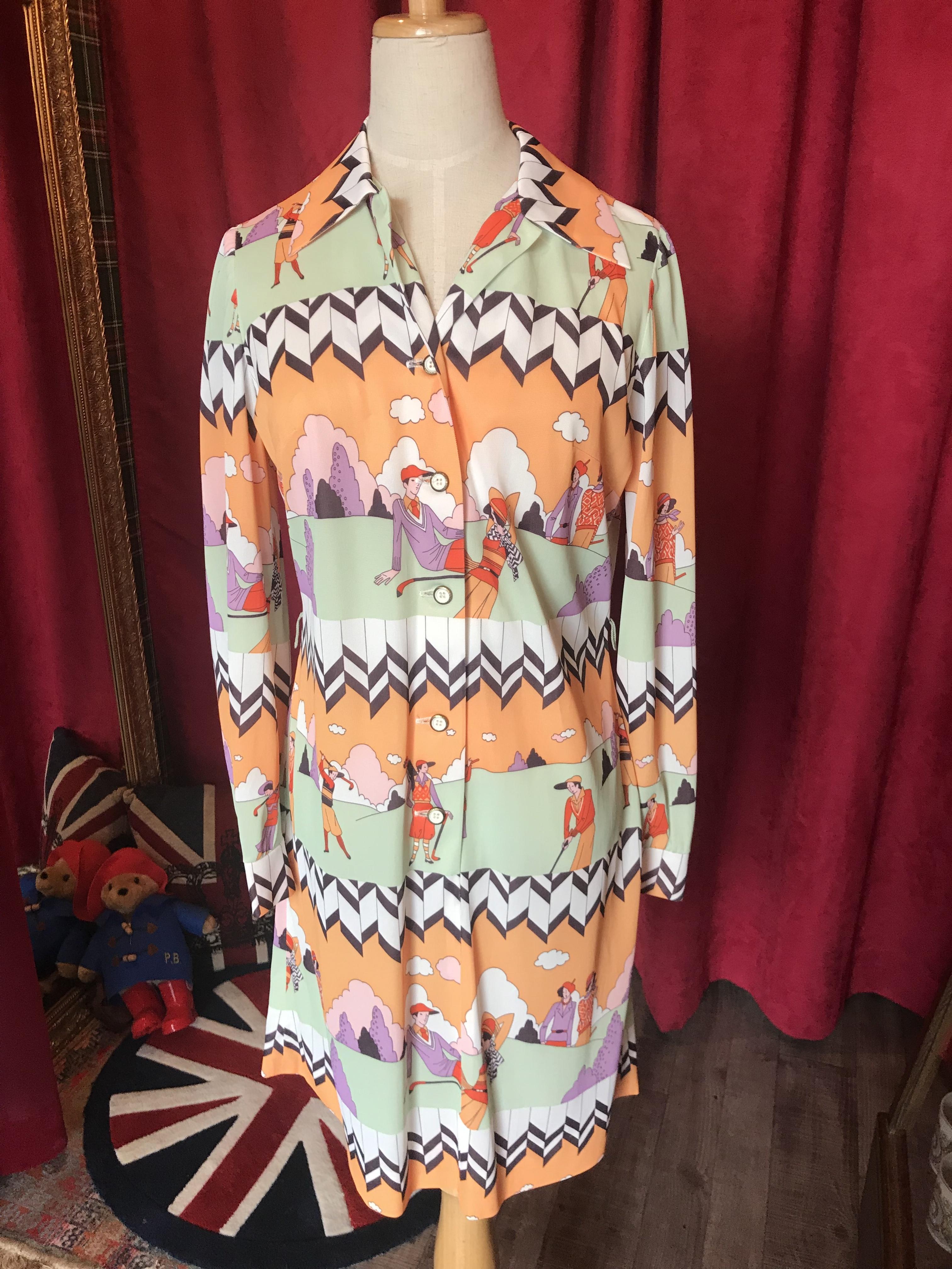 英国 Vintage dress ワンピース