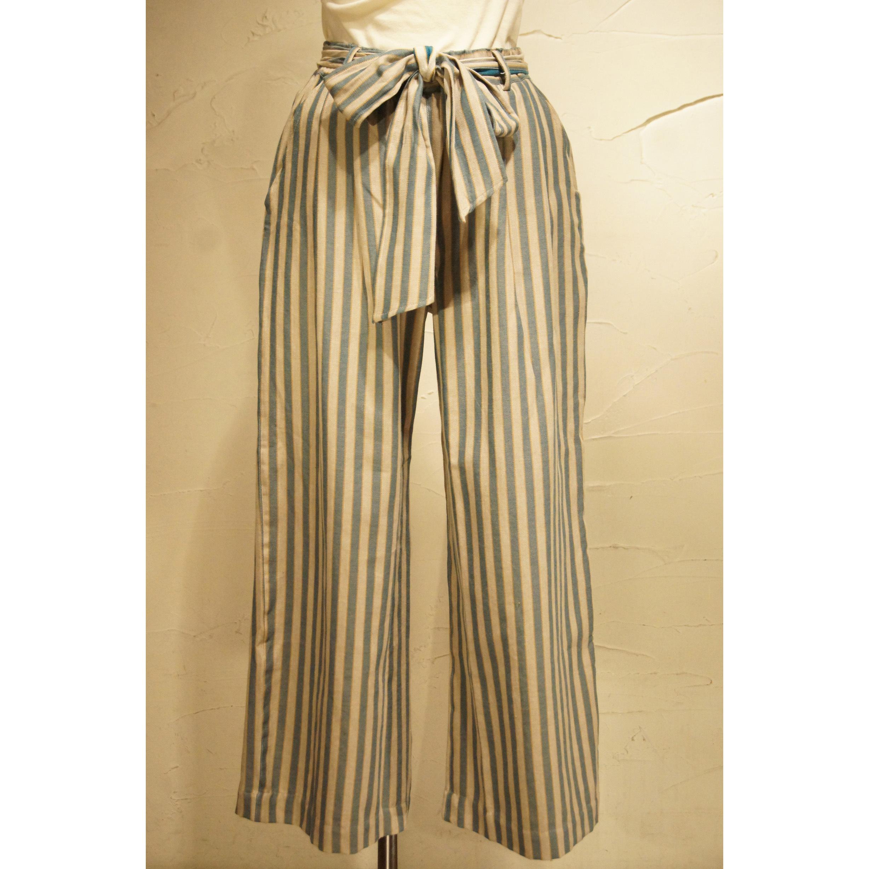 【ピープルツリー】手織りワイドパンツ(オーガニックコットン)194103