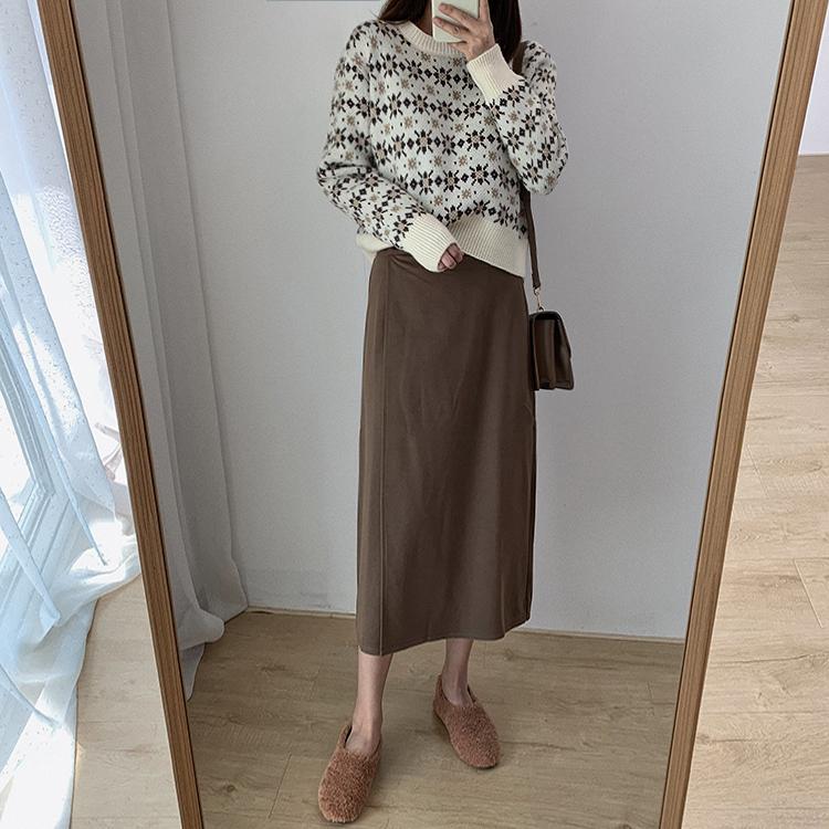 〈カフェシリーズ〉レトロフラワープルオーバー【rétro flower pullover】