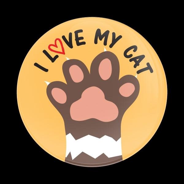 ドームバッジ(CD0994 - I LOVE MY CAT) - 画像1