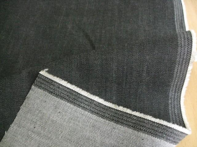 綿ストレッチソフトデニム 10オンス ブラック CTN-0175