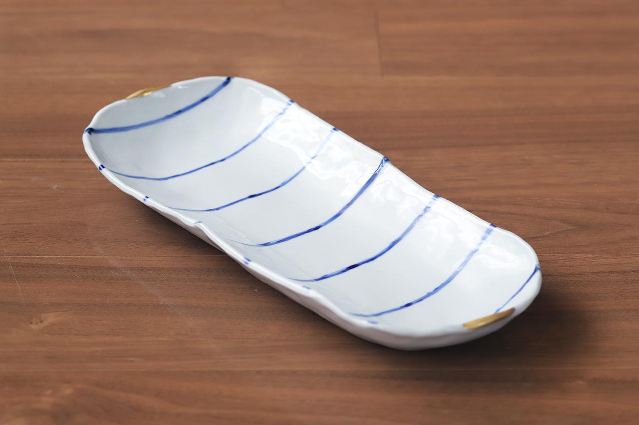 松尾貞一郎 楕円長皿 201006-K17 貞土窯(有田焼)