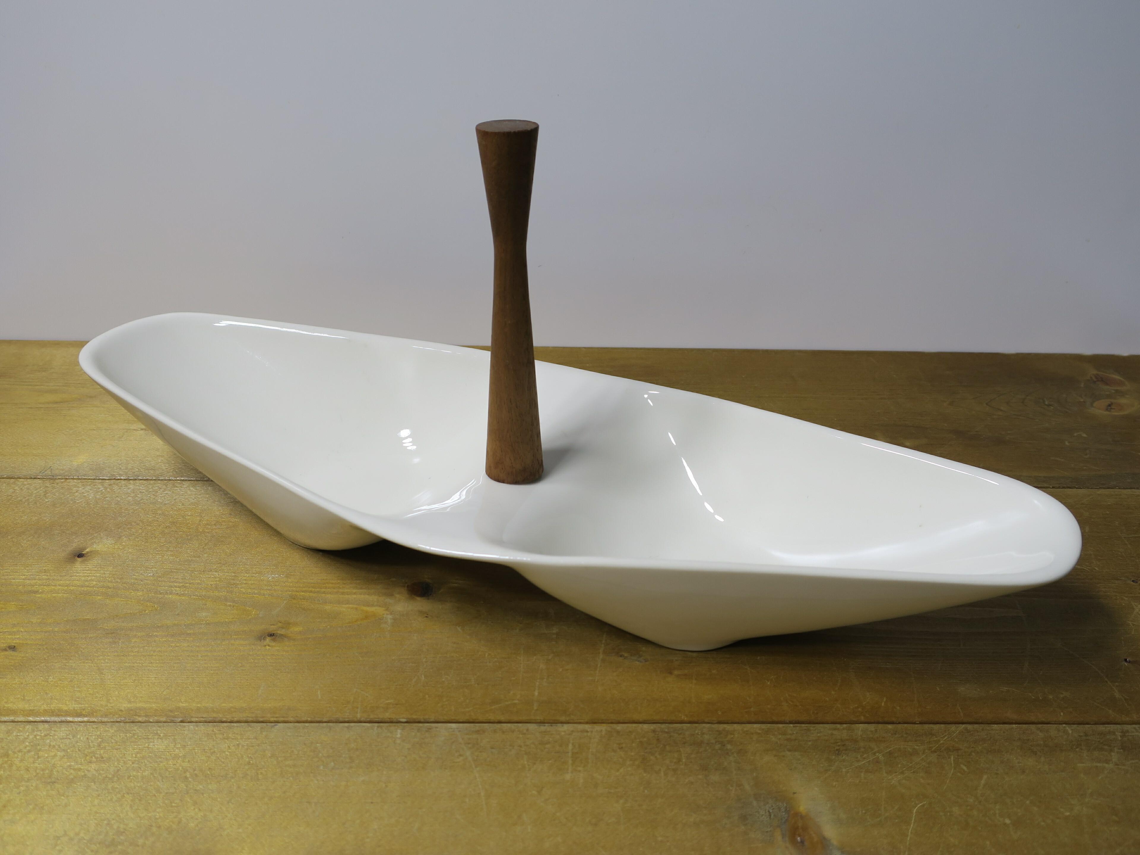 ヴィンテージU.S.A パーテーションプレート(陶器製) アイボリー