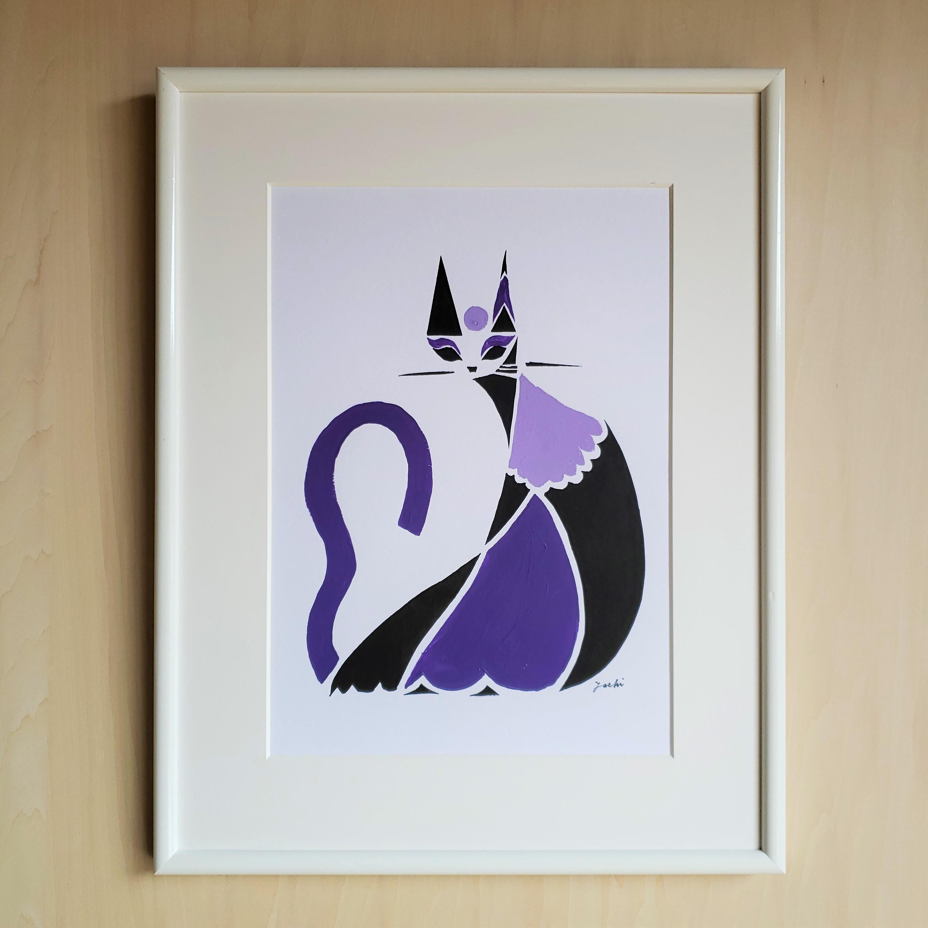【原画レンタル】TTAR_003(cats_violet)