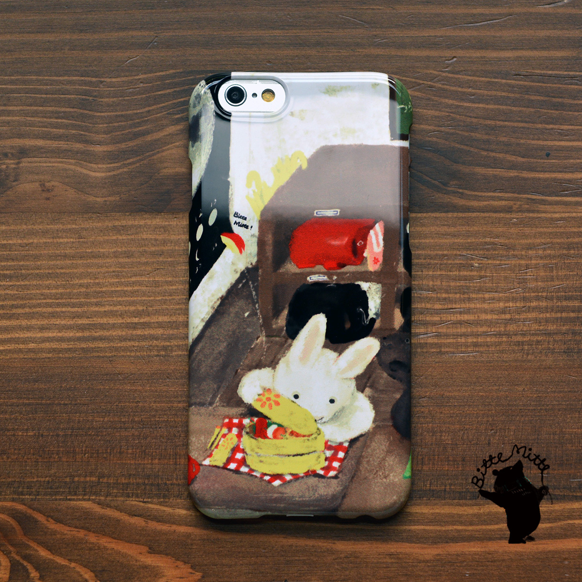 iphone6s ケース ウサギ iphone6s ケース うさぎ iphone6 ケース ウサギ iphoneケース うさぎ柄 逃げたうさぎリンゴ/Bitte Mitte!
