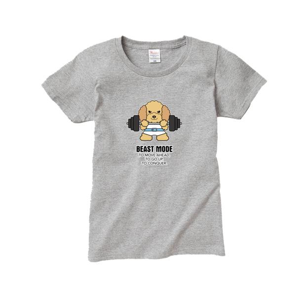 Tシャツ レディース【BEASTMODE プードル】