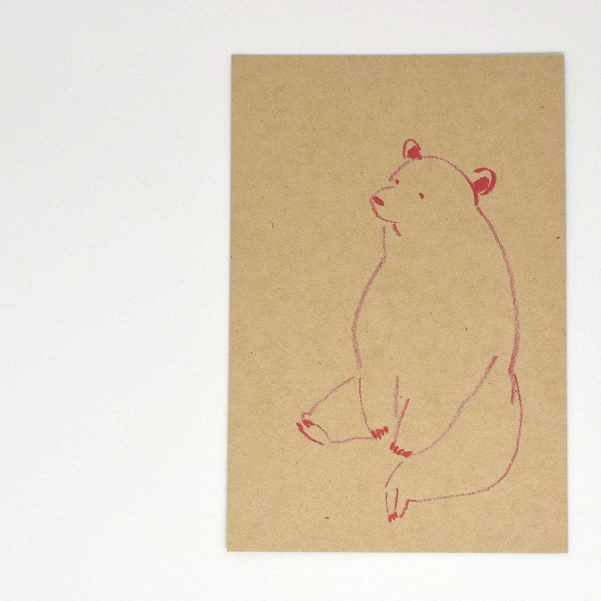 HIGASHI ALPS(ヒガシアルプス)ポストカード くま