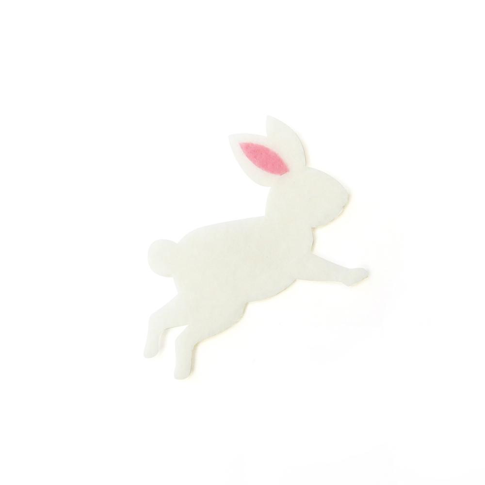 アイロン接着 フェルト アップリケ(ウサギ)