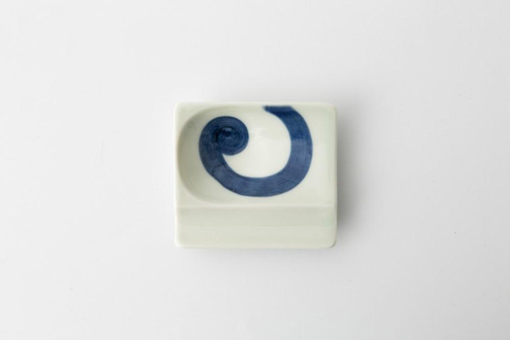 波佐見焼 重宝皿 渦紋(青) 【アイユー】