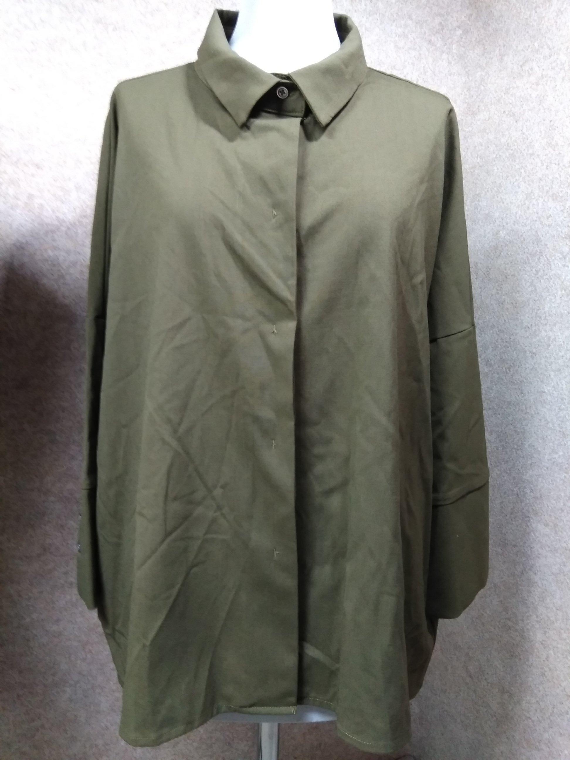 バンヤードストーム オーバーサイズ シャツ ブラウス オリーブ u1270a