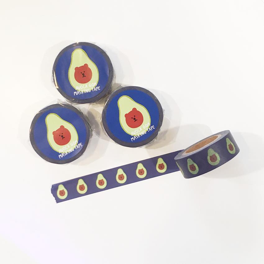 アボカゴム マスキングテープ(ブルー)