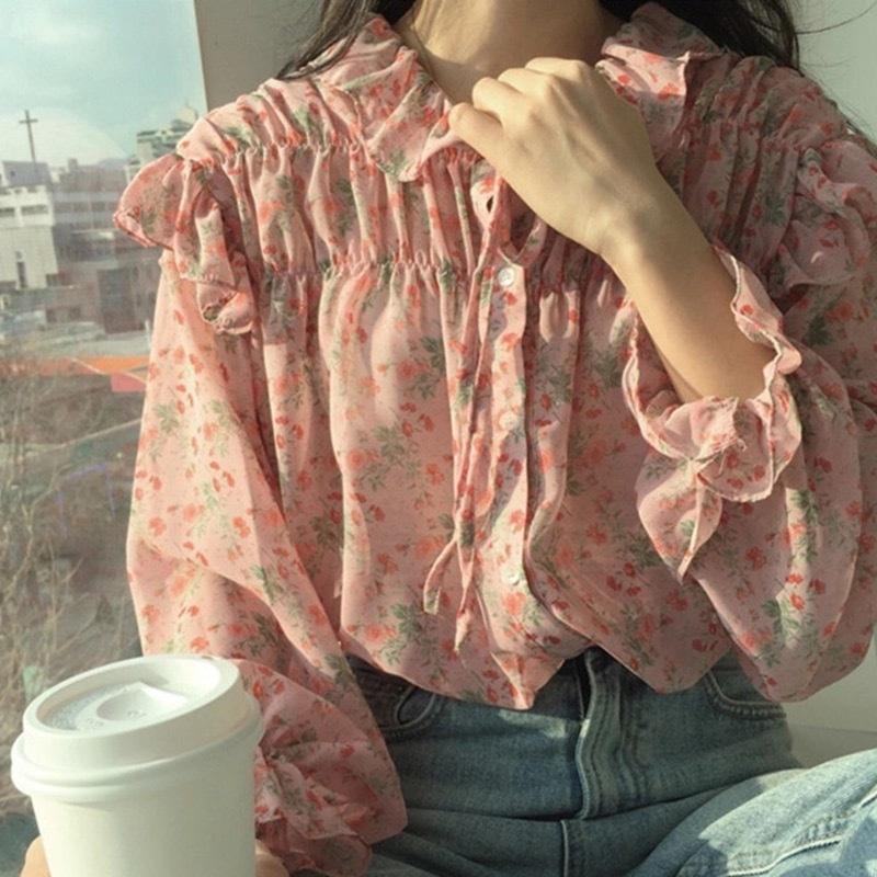 【即納】リトルキューティーフラワーシャツ
