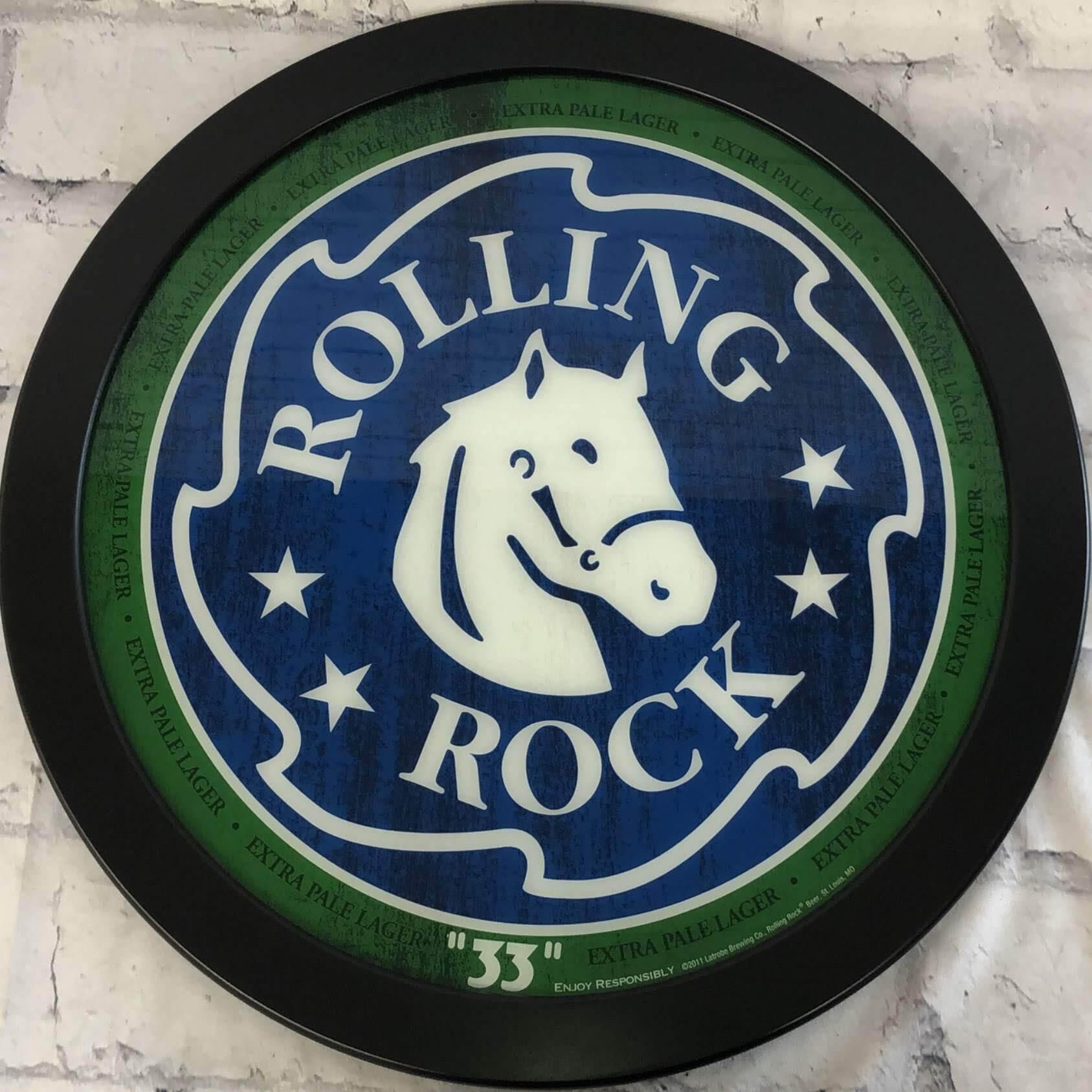 品番0477 サインボード 『ROLLING ROCK(ローリング ロック)』 壁掛 看板 アメリカン雑貨