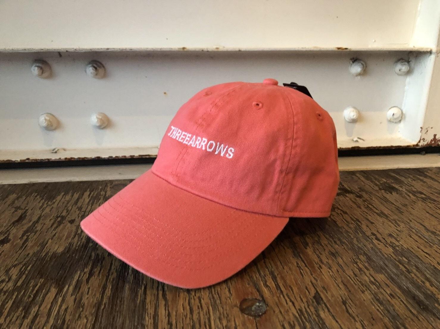 THREEARROWS刺繍CAP (salmon pink)