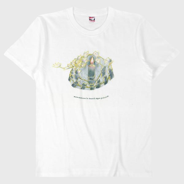 Tシャツ 私達はよい兆しの光をみんなで守る。