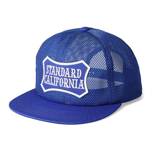 STANDARD CALIFORNIA #SD Shield Logo Patch All Mesh Cap Blue