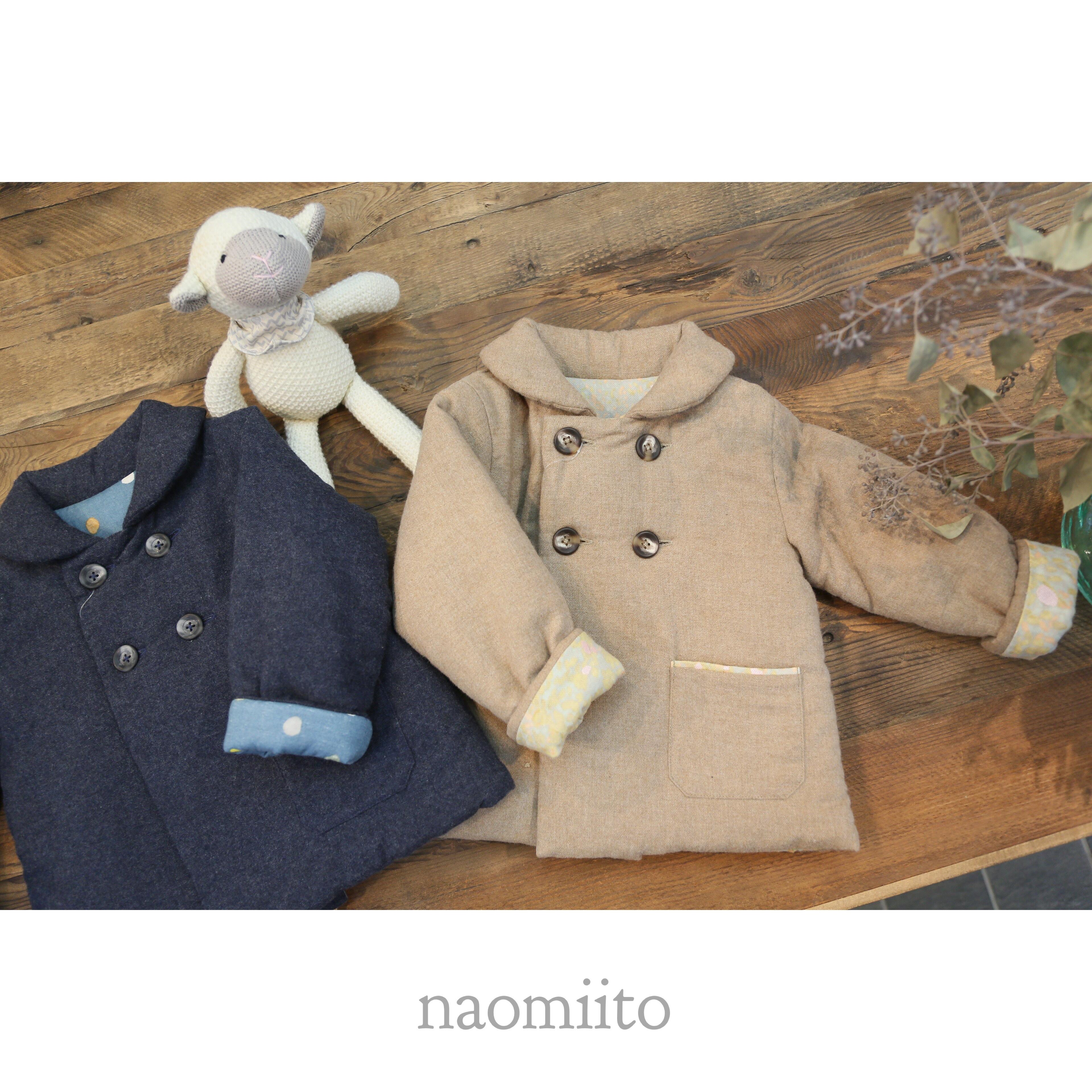 NAOMI ITO(ナオミイトウ)/ダブルボタンコート//(80-90cm)