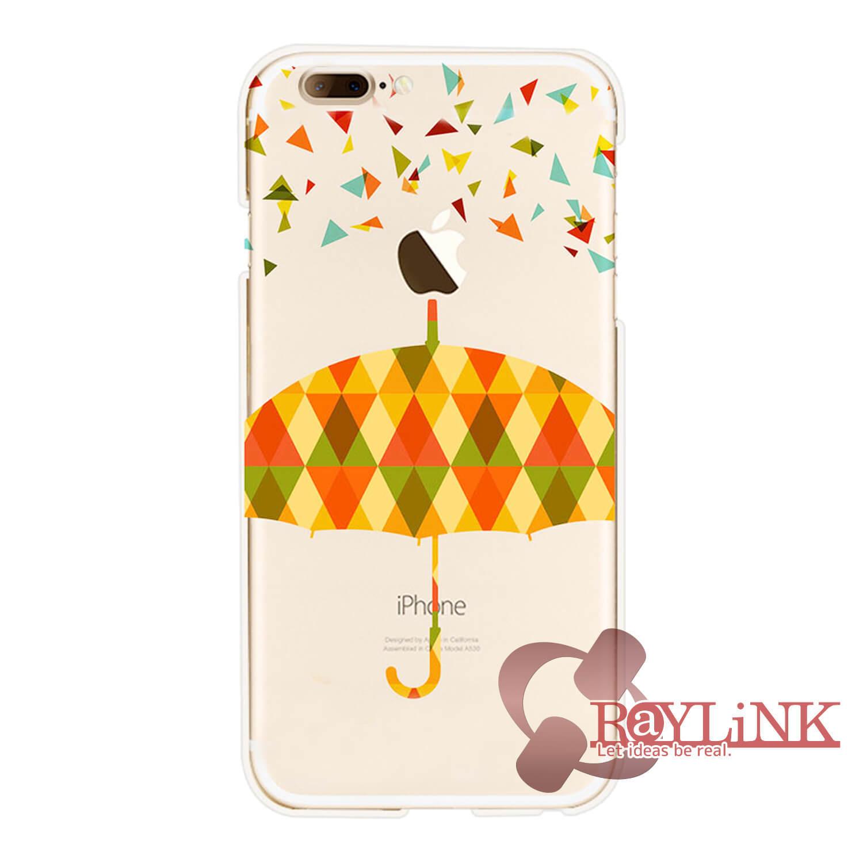 【スマホケース】iPhone7用クリアケース 傘模様