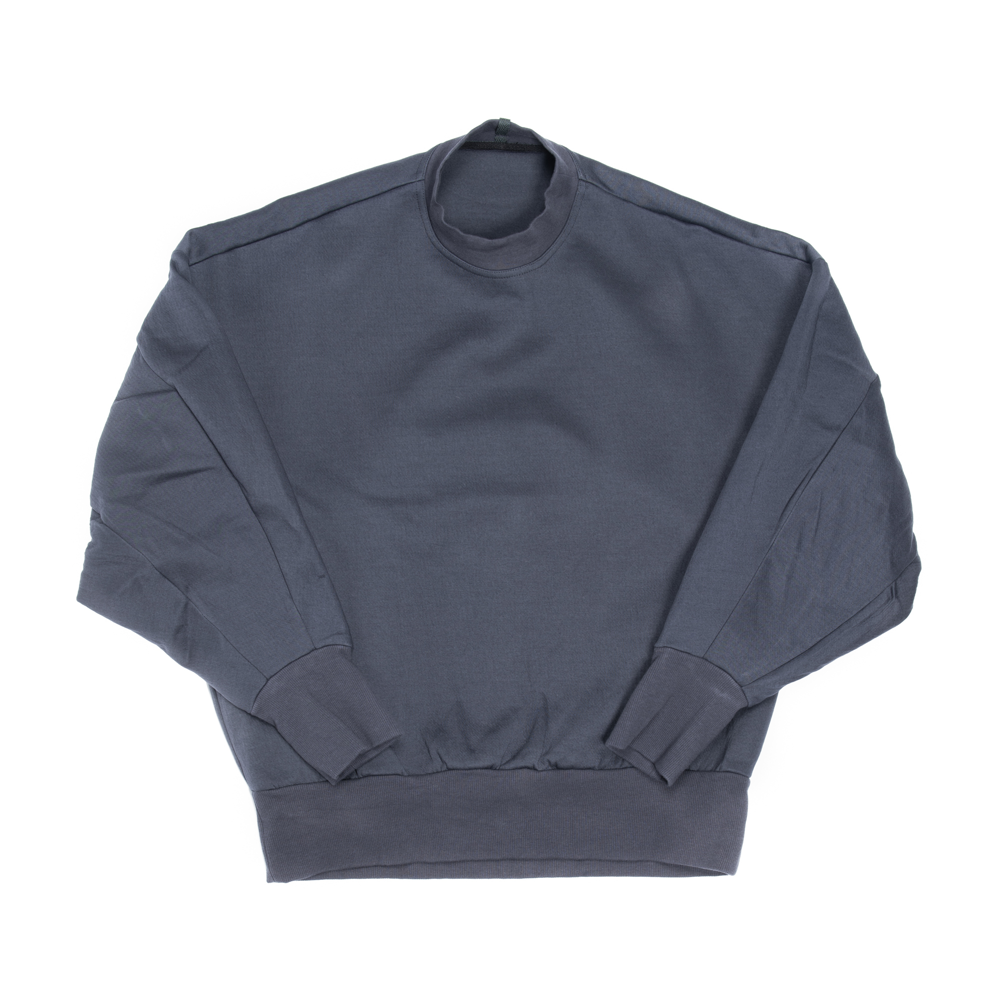 657CUM2-BLUE GRAY / バックストラップ スウェットシャツ