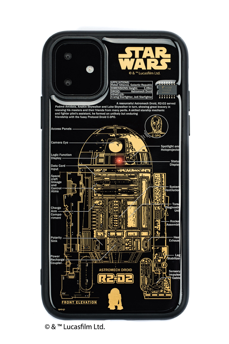 FLASH R2-D2 基板アート iPhone 11 ケース  黒【東京回路線図A5クリアファイルをプレゼント】
