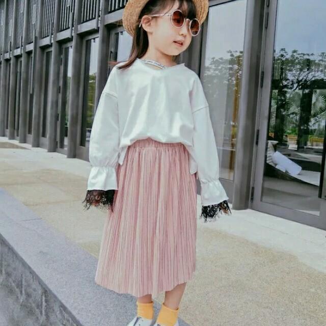 プリーツシフォンロングスカート【519】