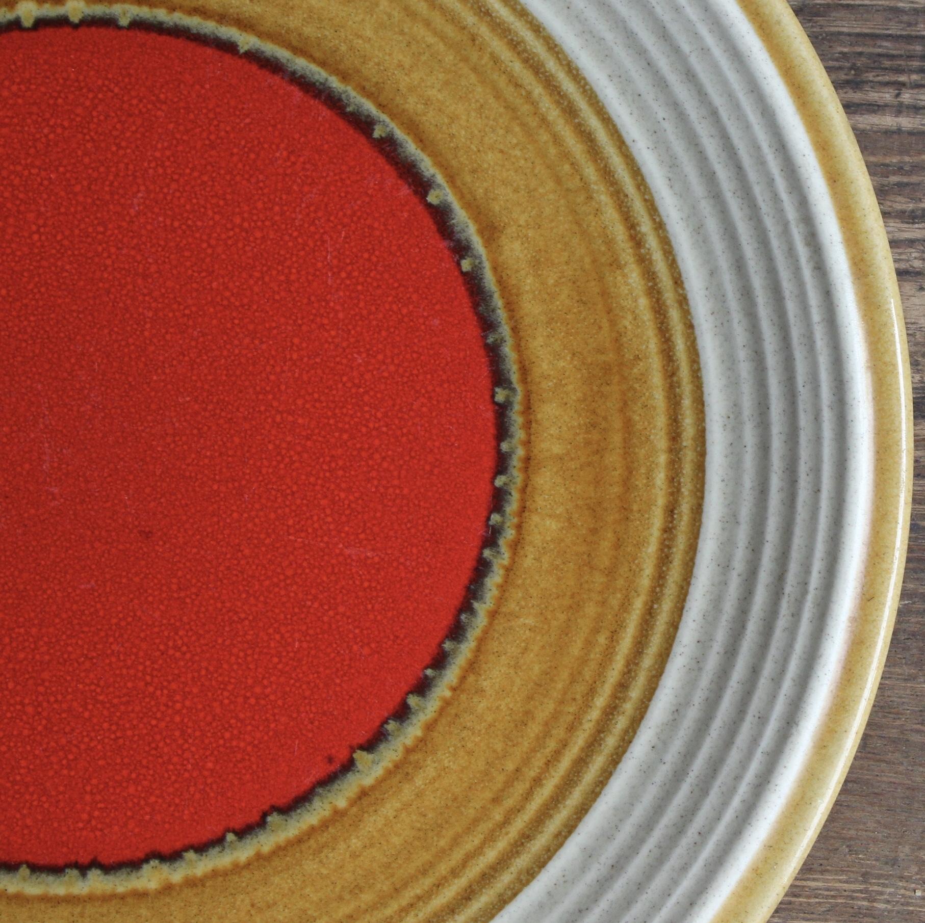 ミカサ 赤丸 ストーンウェア ディナー皿 在庫1枚