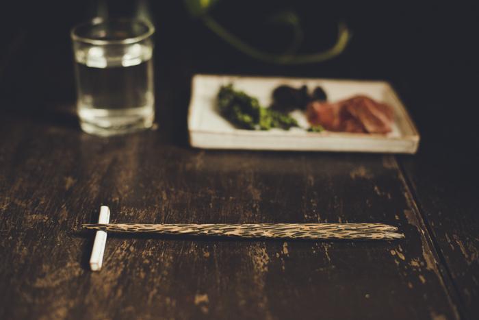 【2ペアセット】パームツリーのお箸 / 陶器の箸置き