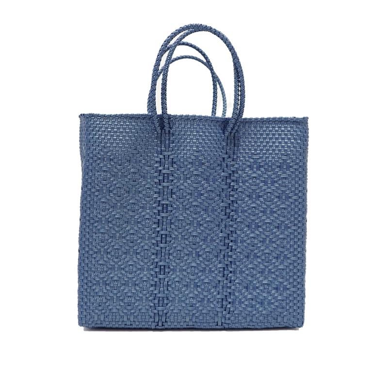 MERCADO BAG ROMBO METALIC - Metalic Blue(M)