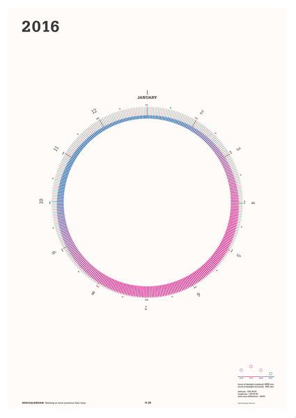 [B2] 2016 mi e ru サークルカレンダー/ホワイト