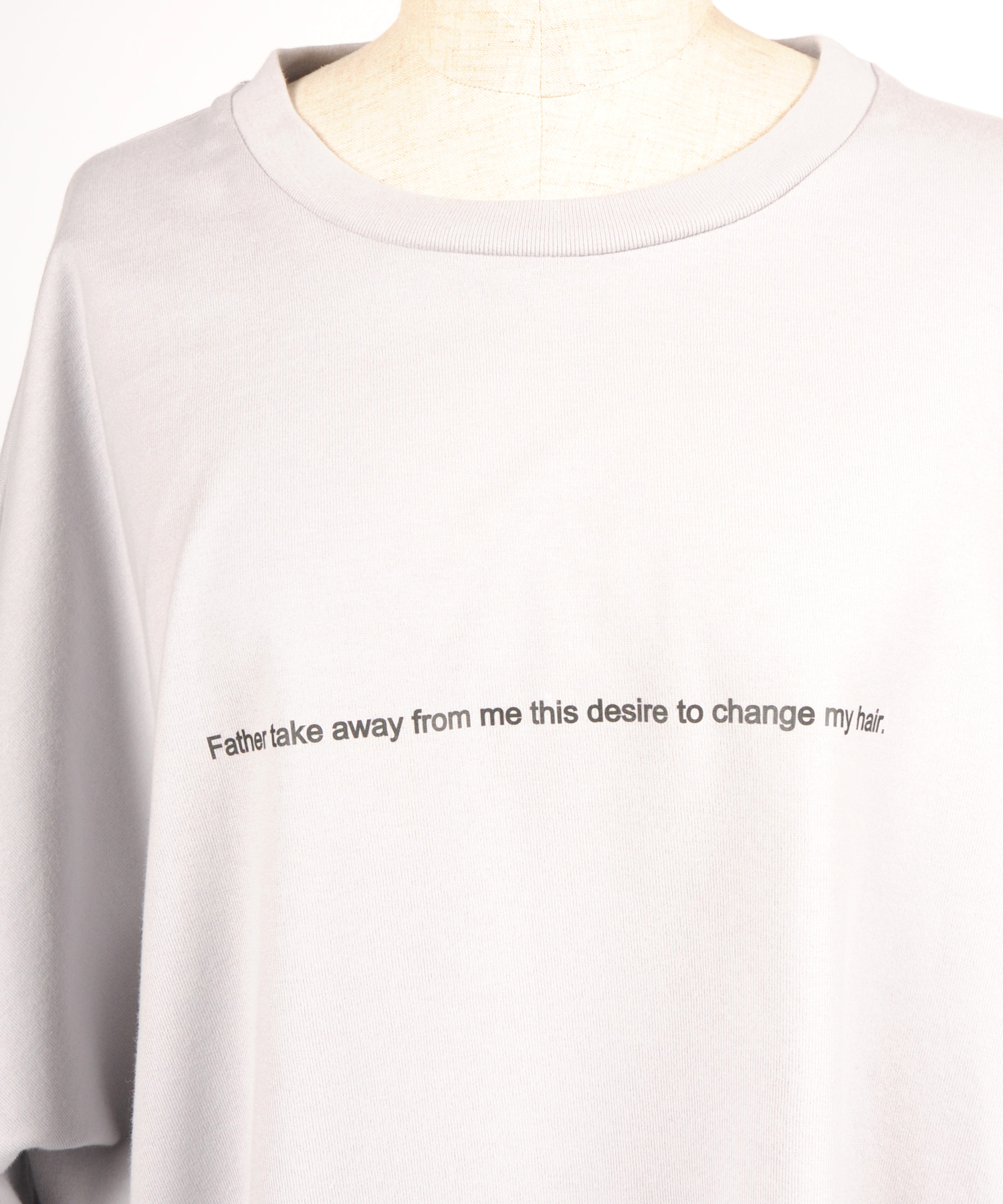 "hs18SM-DE02 CREW NECK T-SHIRT ""change my hair"""