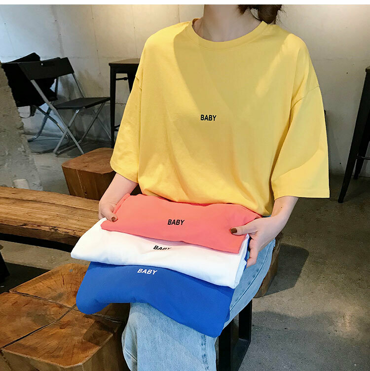 【BABY】ロゴ オーバーサイズ Tシャツ 4カラー tk2050