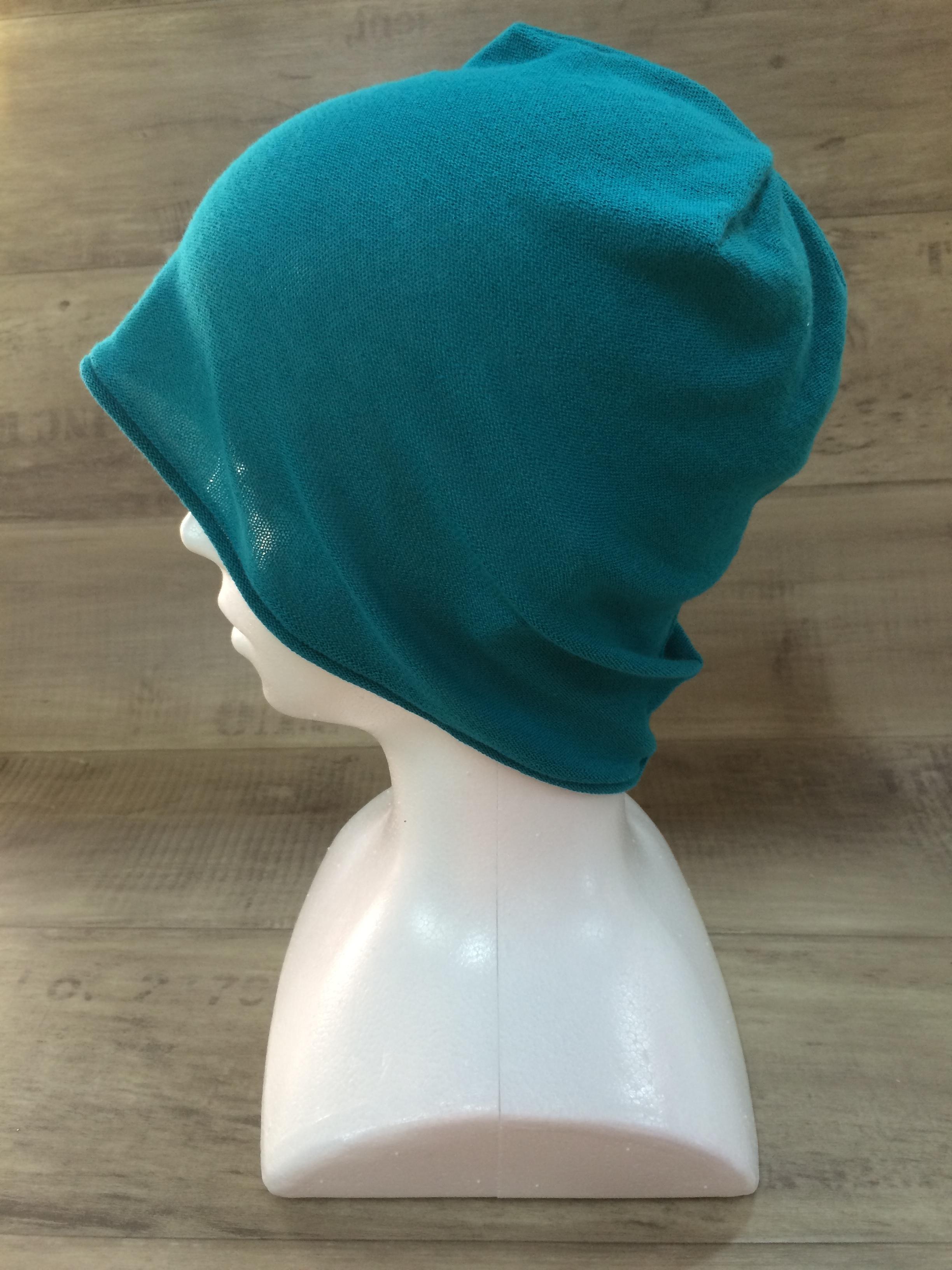【送料無料】こころが軽くなるニット帽子amuamu|新潟の老舗ニットメーカーが考案した抗がん治療中の脱毛ストレスを軽減する機能性と豊富なデザイン NB-6060|深藍色(ふかあいいろ)
