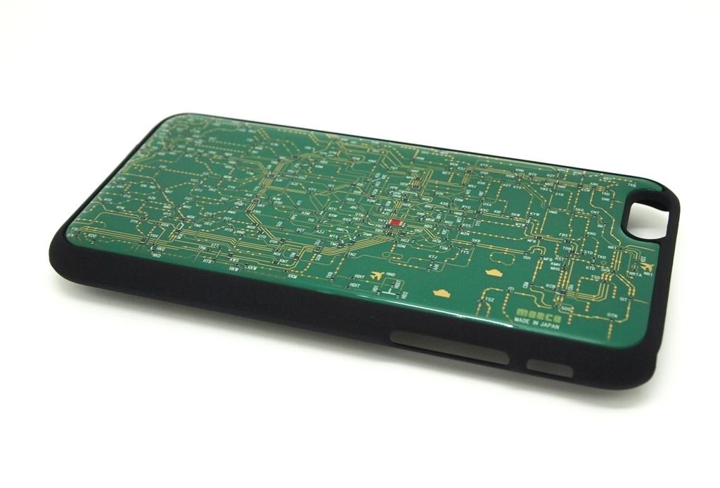 東京回路線図 iphone6/6s case 緑【LEDは光りません】【東京回路線図A5クリアファイルをプレゼント】