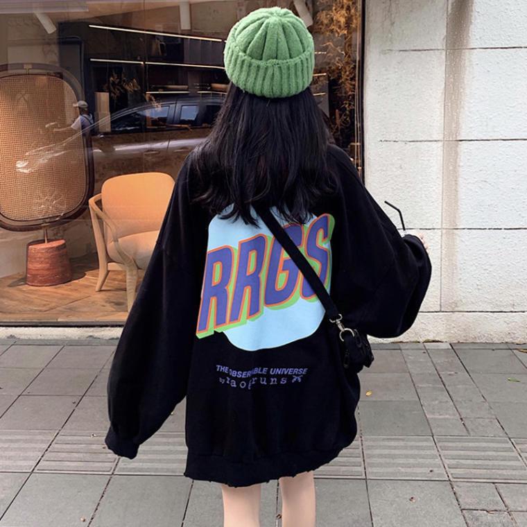 【送料無料】 ビッグシルエット♡ ゆるだぼ オーバーサイズ プルオーバー トップス バッグロゴ 古着風 ストリート系