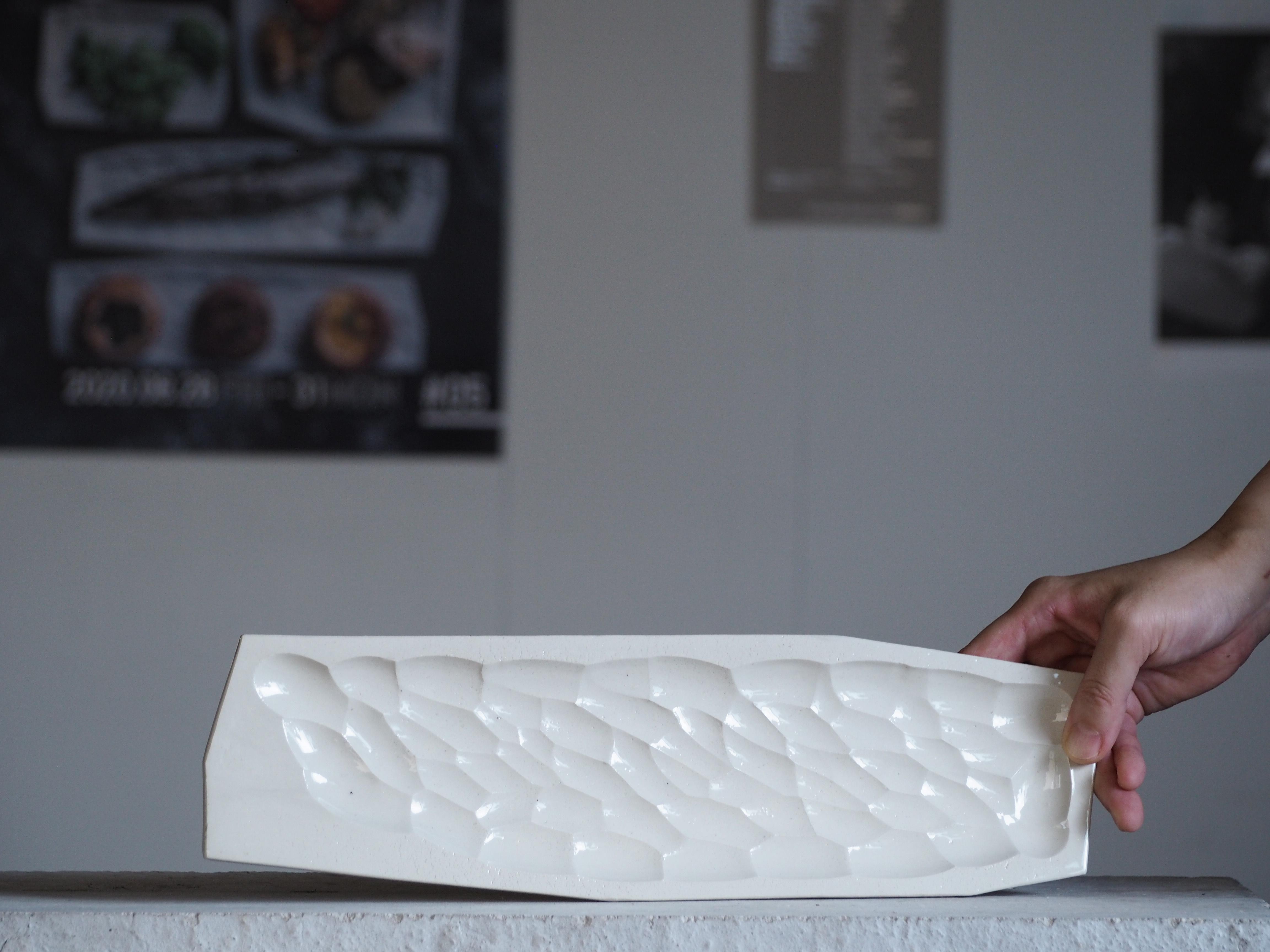 板皿 / ホワイト(釉) / M / 長型 No,83-14
