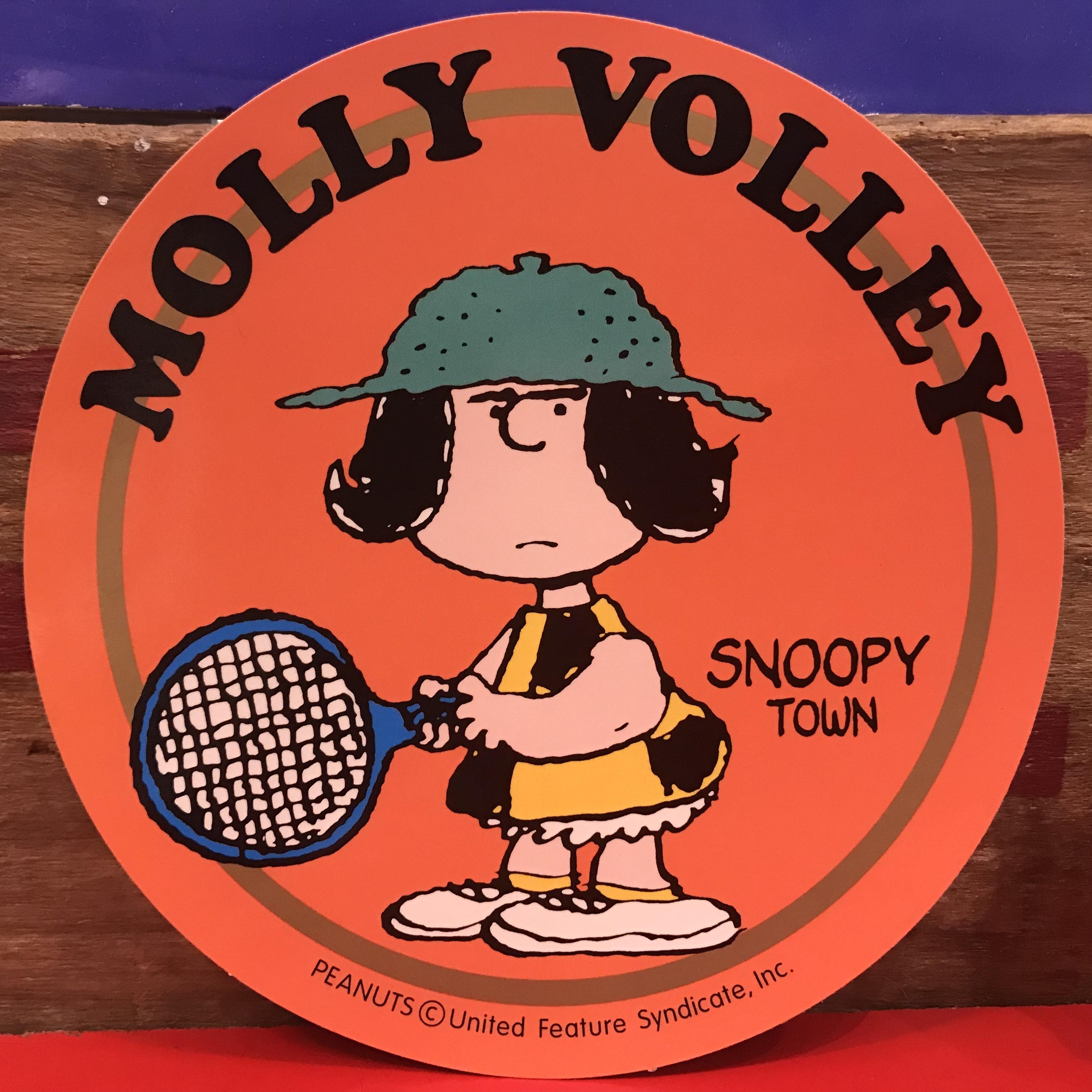 スヌーピー PEANUTS モリー・ボレー 特大ステッカー 限定品 2000年製。