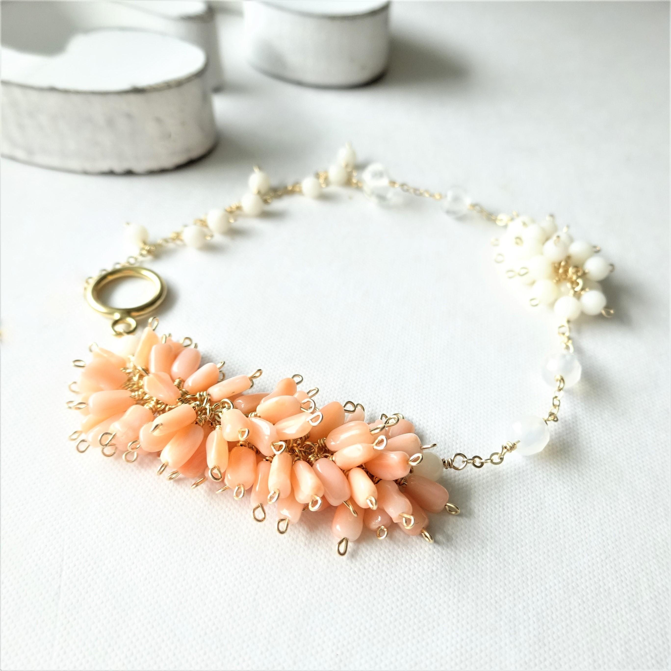 14kgf*Natural Coral special bracelet