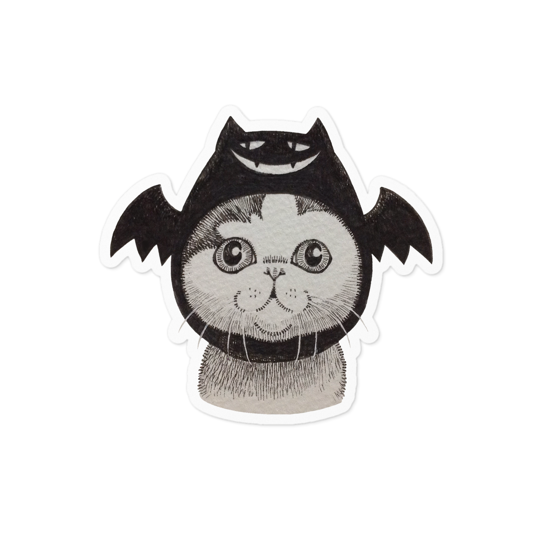 コウモリ猫  ステッカー