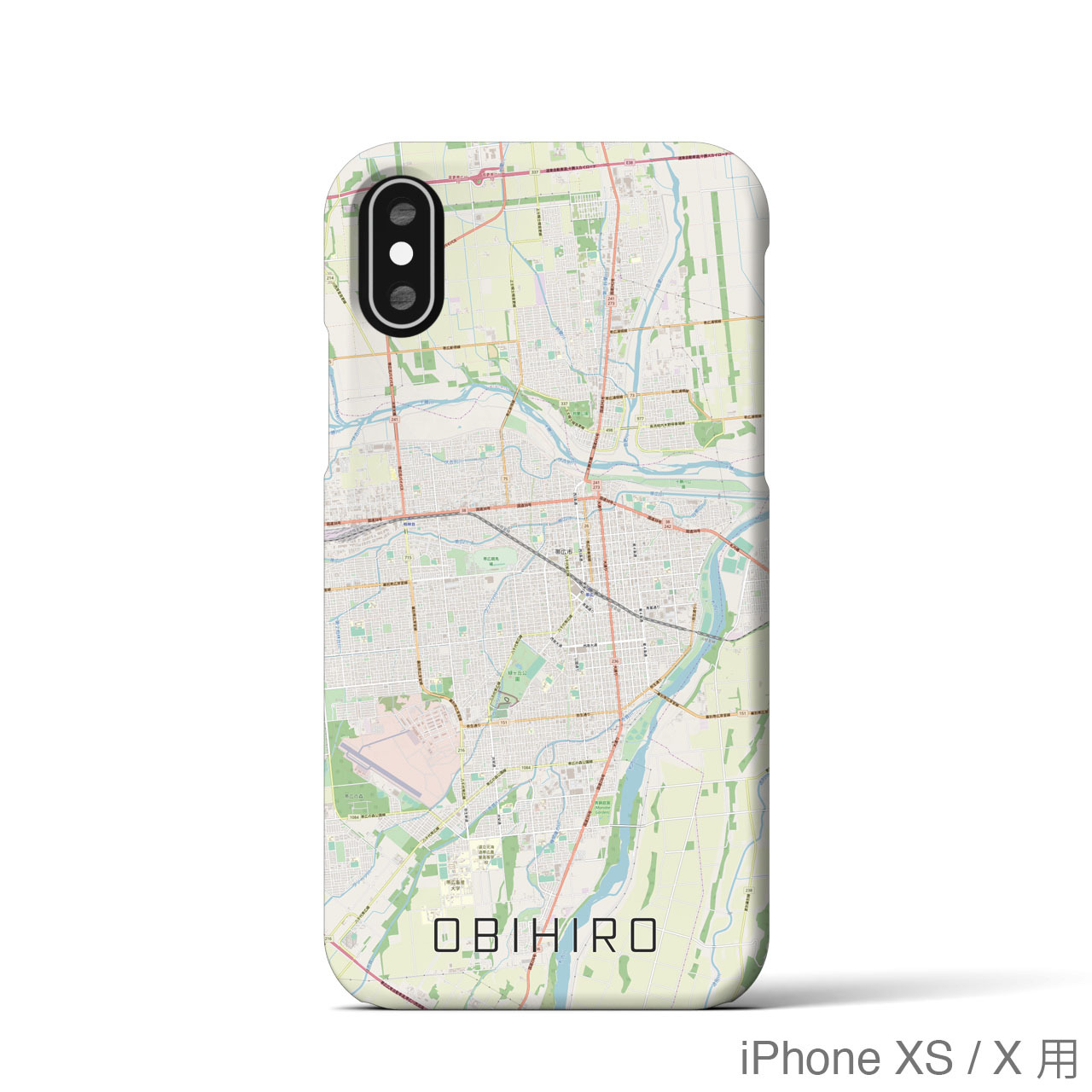 【帯広】地図柄iPhoneケース(バックカバータイプ・ナチュラル)