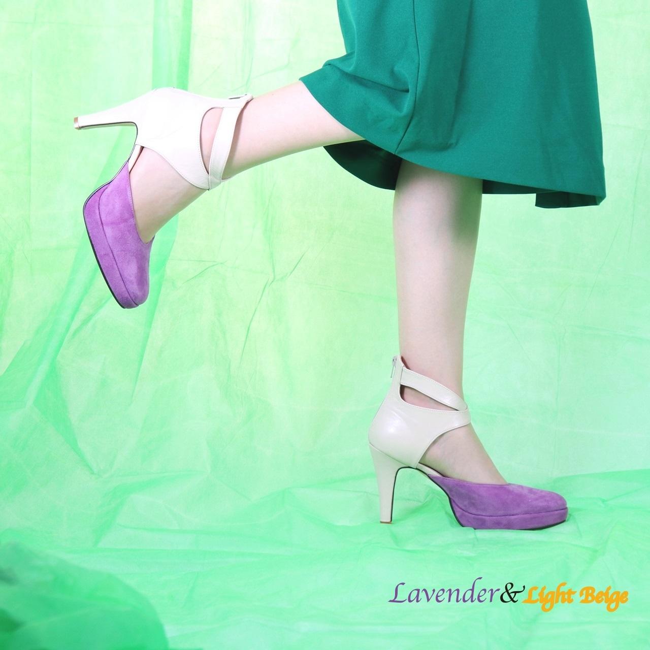 パンプスLady Lavender×LightBeige