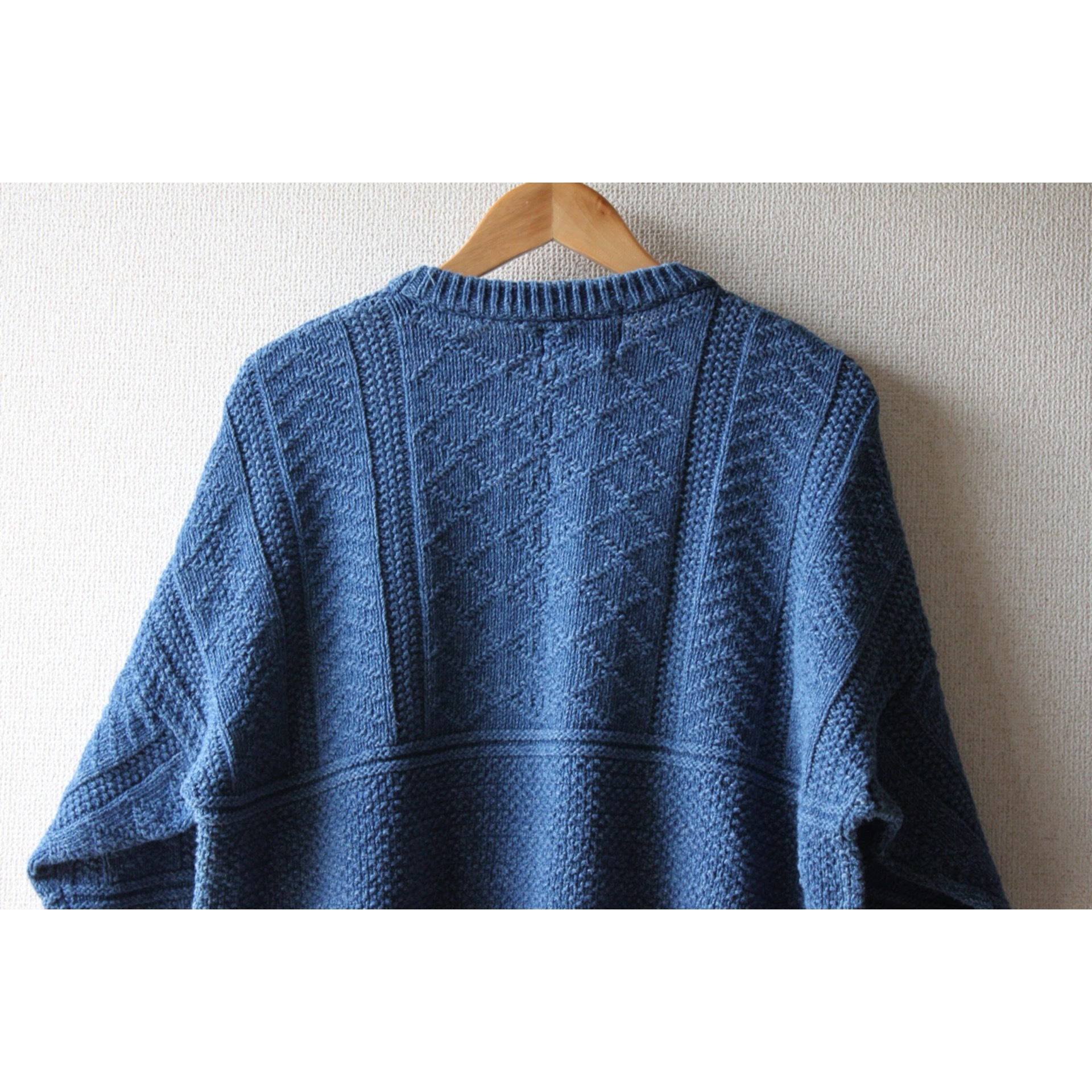 Vintage indigo cotton sweater by Eddie Bauer