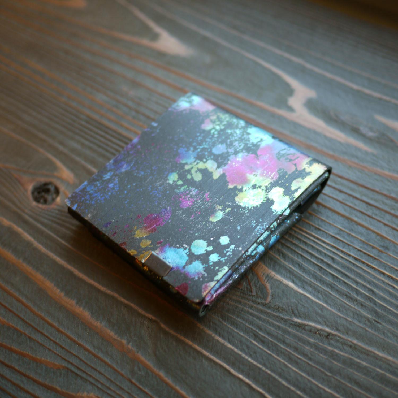 孔雀色の所作。(オーロラ×ブラック)<所作・二つ折り財布ver.2.0>