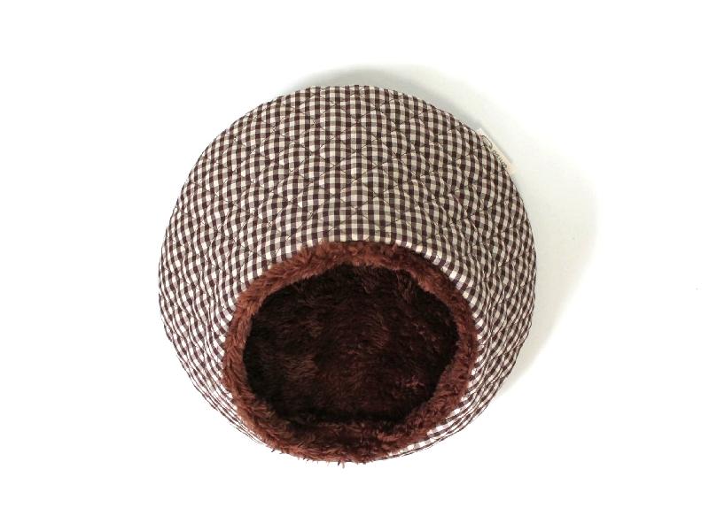 ハリちゃんのおやすみベッド(冬用) ギンガムチェック ブラウン