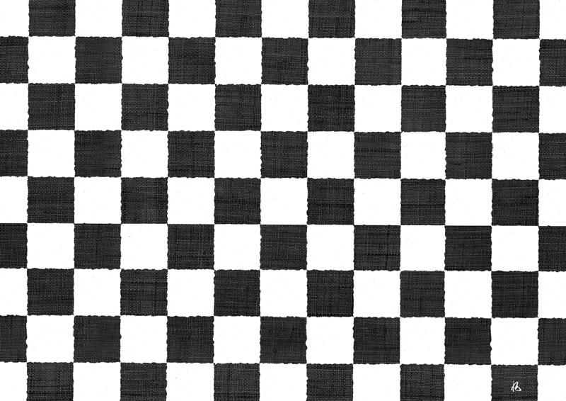 友禅シート G-43 市松(黒×白)
